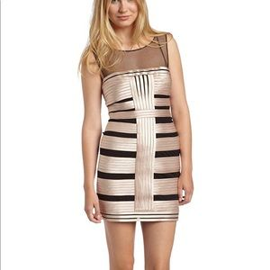 BCBG Max Azria champagne color dress NEW Sz 2